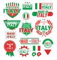 label made in italy vector image vector image