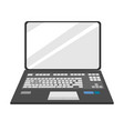 laptop notebook front view vector image