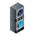 laundry wash machine stack icon isometric style vector image vector image