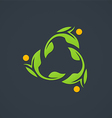 leaf ecology circle abstract logo vector image