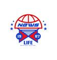 life news logo original design est 1987 social vector image vector image