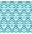 Light blue swirls damask seamless pattern vector image vector image