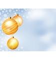 Light Christmas backdrop with Three balls EPS 8 vector image vector image