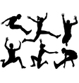 Long Jump Silhouette vector image vector image