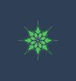 lotus logo icon design vector image vector image