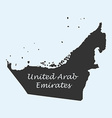 Map of United Arab Emirates vector image