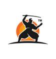 ninja logo design vector image vector image