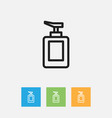 of hygiene symbol on hand vector image vector image
