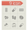 pills icons set vector image