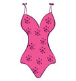 pink swimsuit on white background vector image vector image