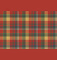 red green check plaid texture textile seamless vector image vector image