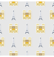 Seamless pattern with french icons vector image vector image