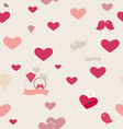 Seamless retro pattern of Valentines hearts vector image vector image