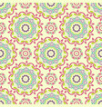 seamless sunny mandala pattern geometry vector image