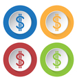 Set of four icons - dollar currency symbol