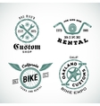 Set of Retro Bicycle Custom Labels or Logos vector image vector image