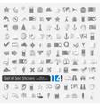 Set of sea stickers vector image vector image