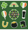 st patricks day stickers vector image vector image