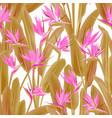 strelitzia reginae or crane flower seamless vector image