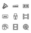 tape icons vector image vector image
