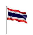 thailand flag on a white vector image vector image