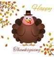 Turkey in cartoon style vector image vector image
