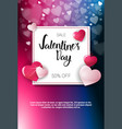 valentine day sale poster template with copy space vector image