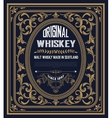 Vintage label for whiskey You can apply this vector image vector image