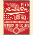 vintage man t shirt graphic design about newyork vector image vector image
