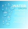 Water drops on blue background vector image