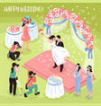 wedding photo shoot vector image