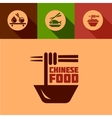 flat chinese food design elements vector image