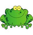 Fat Frog Cartoon Mascot Character vector image