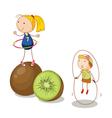 Kiwifruit kids vector image