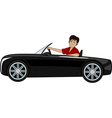 A man in a car vector image vector image