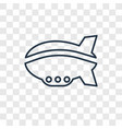 airship concept linear icon isolated on vector image