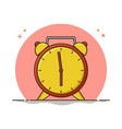 alarm clock icon wake up morning time vector image vector image