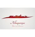 Albuquerque skyline in red vector image