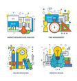 analysis management education creative design vector image vector image