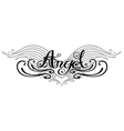 angel wings tattoo vector image vector image