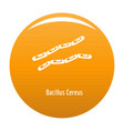 bacillus cereus icon orange vector image