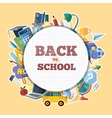 back to school icons set in circle shape vector image vector image