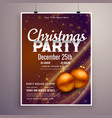 beautiful christmas party poster design template vector image vector image