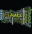 best methods to make money online text background vector image vector image