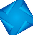 blue page corners vector image