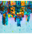 blurred colorful pixel background vector image
