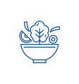 bowl of salad line icon concept bowl of salad vector image vector image