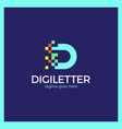 business corporate letter d logo vector image vector image