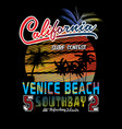 california beach t shirt graphic vector image