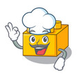 chef plastic shaped toy on constructi character vector image